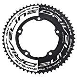 Driveline AL7075 Road Bike Bicycle TT Chainring 58T, BCD 130mm, Black and White, ST1554
