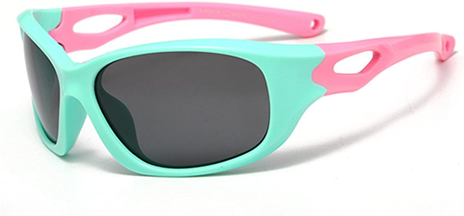 Flexible Kids Sports Sunglasses with Case Polarized Lenses UV Predection Boys and Girls Ages 3 to 12 (color   C1)