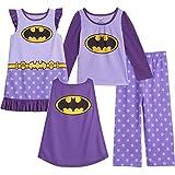 DC Comics Justice League Batgirl Toddler Girls Pajama Shirt Pants Nightgown Set 3T