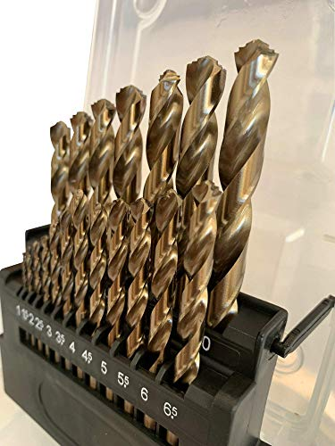 Metric M42 8% Cobalt Twist Drill Bits Set for Stainless Steel and Hard Metal (1mm-10mm/19pcs)