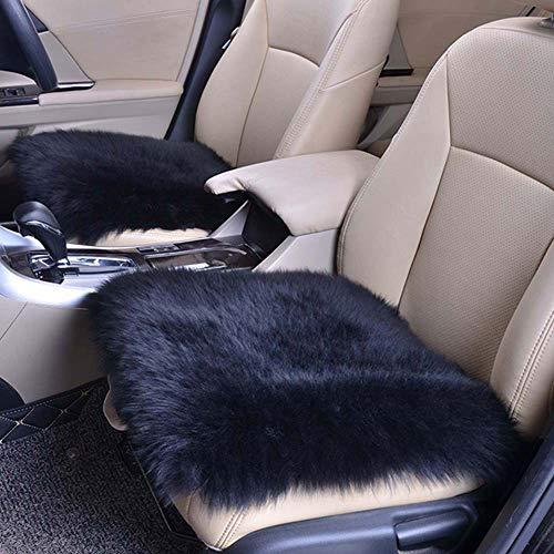 Homeng 45,7 x 45,7 cm quadratisch ohne Rückenlehne, luxuriöses Autositz-Kissen für Auto, SUV, LKW, Bürostuhl, Schwarz , 18X18inch