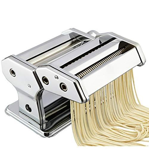 Nudelmaschine Pasta Maker Edelstahl Frische Manuell Pasta Walze Maschine Cutter Für Spaghetti Nudeln Lasagne Bestes Pastamaschine Nudel Maschine Geschenk, Einfache Reinigung Und Verwendun