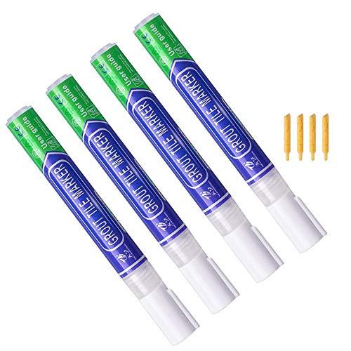 Bolígrafo de lechada, 4 bolígrafos blancos para lechada, impermeables, para restaurar espacios de azulejos