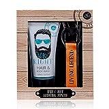 Accentra Hipster Style - Set de regalo para hombres (incluye gel de ducha y champú (2 en 1) y un llavero con abrebotellas, todo en una caja de regalo)