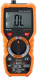 Akozon Digital Multimeter PEAKMETER PM18C 6000 counts Intelligent Handheld Digital Multimeter Temperature Tester Voltage R...
