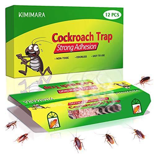 Kimimara Cucaracha Trampas, 12 Pcs Trampas para cucarachas con Cebo Incluido