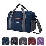 CANWAY Reisetasche Duffel Leichtgewicht Faltbar Handgepäck Sporttasche Einkaufstasche Freizeittasche Weekender für Männer und Frauen Ferien Urlaub(Blau, 25L)