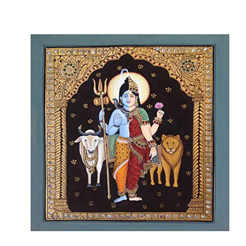 W15Y8 Pintura Abstracta De Retrato De Lord Shiva India Buda Dioses Hindúes Póster Habitación Moderna Decoración Del Hogar Impresión En Lienzo-60X60Cm Sin Marco