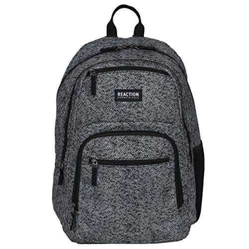 """Kenneth Cole Reaction Printed Dual Compartment 16"""" Laptop & Tablet Backpack for School, Travel, Work, Urban Herringbone, Laptop"""