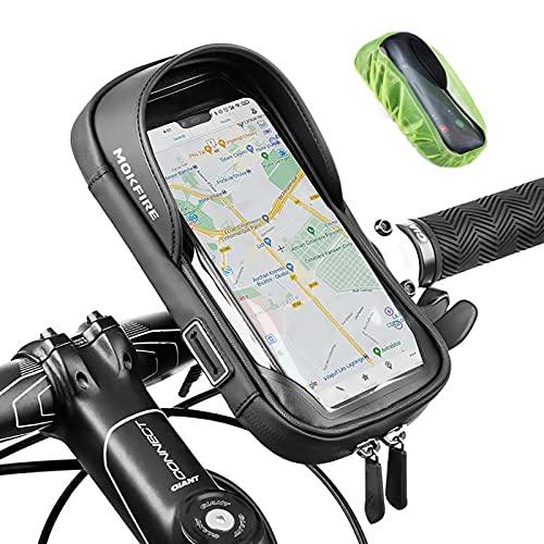 MOKFIRE Bike Phone Mount Bag Waterproof Bicycle Phone Holder Handlebar Bag...