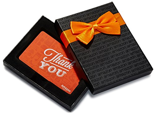 Amazon.ca $250 Gift Card in a Black Gift Box (Thank You Icons Card Design)