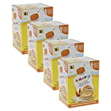HiPP Quetschbeutel für Babys, Frucht-Porridge, Mango-Pfirsich in Banane mit Hafer, 100% Bio-Früchte ohne Zuckerzusatz, 4 x 4 Beutel à 90 g