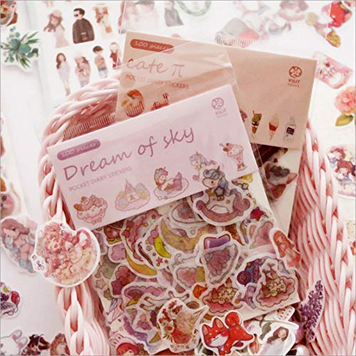 Nette Cartoon Aufkleber Tasche Pflanze Blume Katze Dekor Kleber Aufkleber Schule Briefpapier Kawaii100sheets