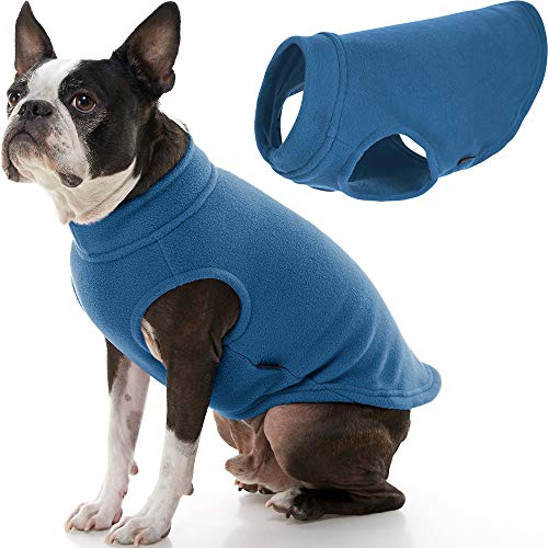 Gooby Stretch Fleece Dog Vest - Steel Blue, 2X-Large - Pullover Fleece Dog Sweater - Warm Dog Jacket Dog Clothes Sweater Vest - Dog Sweaters for Small Dogs to Large Dogs for Indoor and Outdoor Use