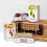 Cesta de regalo de mimbre de golosinas para té y galletas - Ideas de regalos para San Valentín, Día de la Madre, Cumpleaños, Felicitaciones, Regalos empresariales y corporativos, Navidad