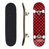 Seasonland Tabla de skate de 7 capas de 78,7 x 20,3 cm, tabla de skate completa de madera de arce para adolescentes, adultos, principiantes, niñas, niños y niños (sueño)