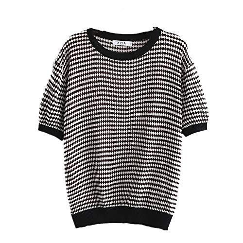 N\P Camiseta retro de seda de hielo para mujer
