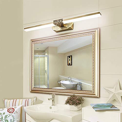 Spiegellampe Wasserdicht Retro Kupfer Beleuchtung Lange Schatten For Badezimmer Make-up Kosmetiktisch Waschtisch Über Spiegel-Licht Geeignet für Badezimmer Schlafzimmer ( Color : Brass , Size : 56cm )