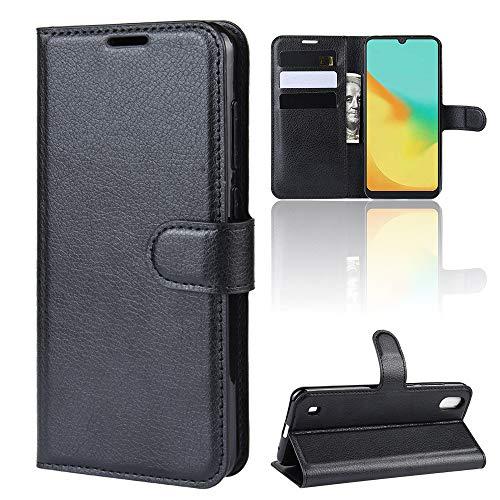 LAGUI Hülle, für ZTE Blade A7 2019, Reif und Stabil Brieftasche Lederhülle Mit Kartenfächern Fach und Magnetische Verschluss. schwarz