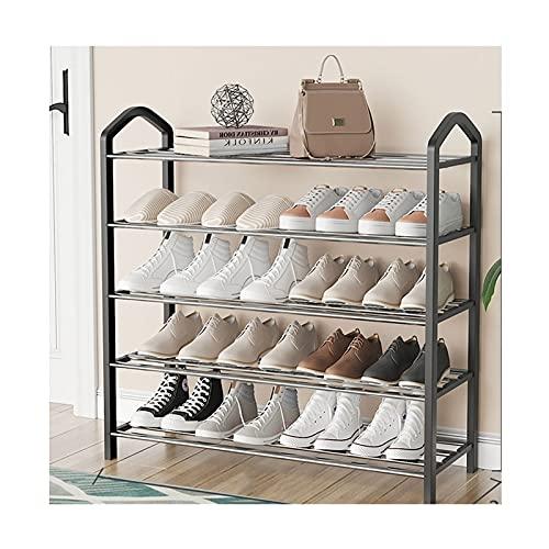 HYAN Zapatero Rack de Zapatos de Metal de 5 Niveles Multi-Uso de Zapatos Multi-Uso Organizador de Almacenamiento para la Entrada de vestíbulo de vestíbulo Dormitorio de Sala de Estar Caja de Zapatos