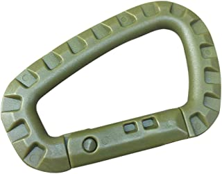 HighlifeS Carabiner Ring Mountaineering With Alloy Lock Outdoor 30kg Safety Buckle Climbing (Army Green)