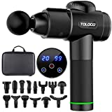 TOLOCO Massage Gun, Upgrade Muscle Massage Gun for Athletes, Handheld Deep Tissue Massager, Black