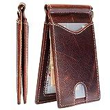 Rogue Industries Slim Minimalist Front Pocket Money Clip Leather Wallet - RFID