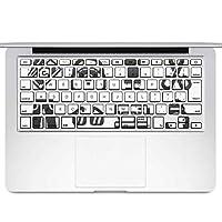 igsticker MacBook Air 13inch 2010 ~ 2017 専用 キーボード用スキンシール キートップ ステッカー A1466 A1369 Apple マックブック エア ノートパソコン アクセサリー 保護 015578 服 整理整頓 ランドリー