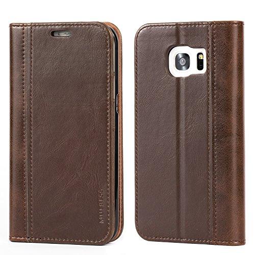 Mulbess Cover Samsung Galaxy S7 Edge Custodia In Pelle Con Supporto per Samsung Galaxy S7 Edge Custodia Pelle, Cioccolato Marrone