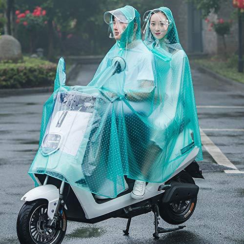 Youjin Poncho de lluvia impermeable, transparente impermeable para ciclismo, poncho de lluvia para adultos, con capucha y cubierta para la lluvia, lona reutilizable para hombres y mujeres