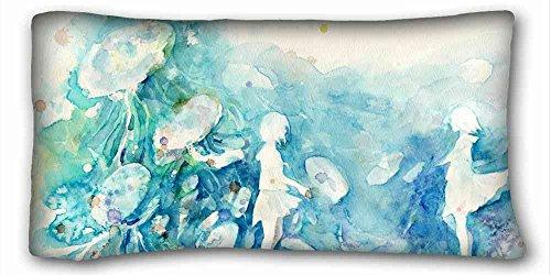 Custom característica (animales Rana en la hoja verde) con cremallera Cuerpo funda de almohada Dimensiones de la funda de 20