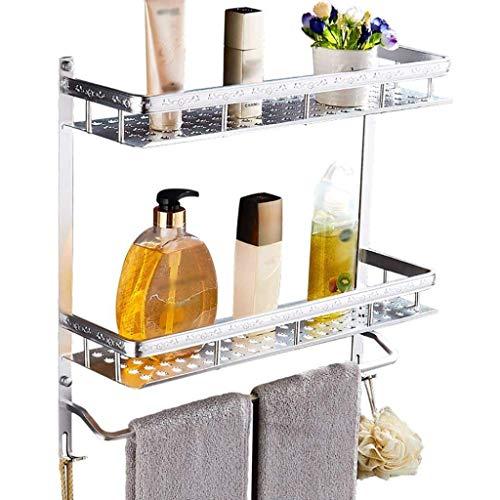 Badkamermeubel zonder gaten, wandrek, wastafel, magazijnrek, wastafel, cosmetica, opslagrek, optionele specificaties, glazen badplaat (afmetingen: 50 x 13,5 x 20,5 cm) 40 * 13.5 * 48CM