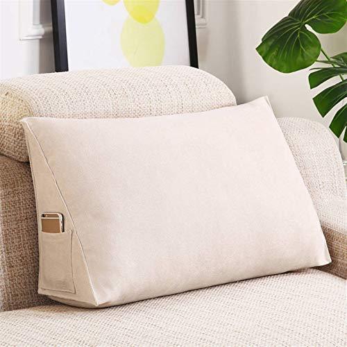 YXIAOJ Dreieckige Kissen Keilkissen Bett Back Kissen Kopfteil Rückenlehne Unterstützung Rückenlehne Unterstützung for Sitzen auf dem Bett Sofa Lesekissen (Color : Beige)