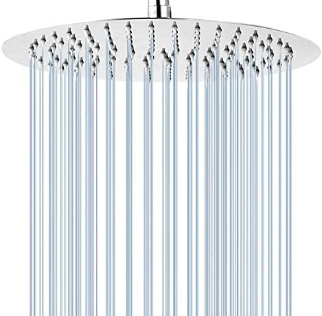 GGStudy Round 16 Inch Stainless Steel Shower Head Rain Style Shower Head Chrome product image