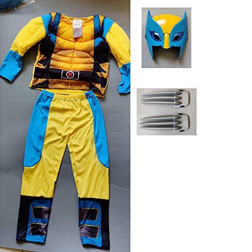 Película A-vengers Wolverine Disfraz Traje Niños Halloween X-Men Superhéroe Superhombre FiestaCosplay Disfraces Niños Regalo de cumpleaños