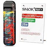 Official SMOK Novo X, E Cigarettes Vape Starter Kit, OLED Display, Ecigarette Refillable UK 2ml 2X MTL DC 0.8ohm Pods, Smooth Vapor, Portable Mini Vaping, Ecig No Nicotine - 7-Color Resin