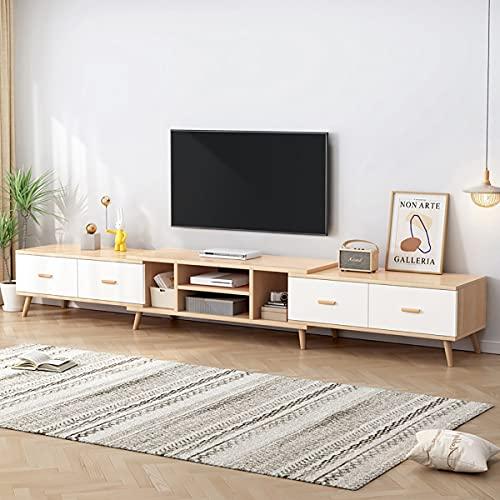 KTDZ Mueble TV Madera para El Hogar PequeñO Mueble De Almacenamiento De TV Estirable con 4 Cajones Y Dos Compartimentos Estante De TV Adecuado para Dormitorio Y Sala De Estar