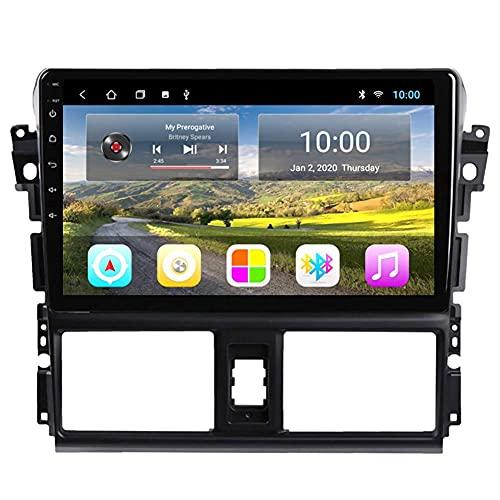 Navegación GPS, reproductor multimedia de video con radio de coche Android 8.1 de 10.1 pulgadas para Toyota vios 2013-2015 con pantalla HD, Play Store, Wifi, 4G + WIFI 2G + 32G