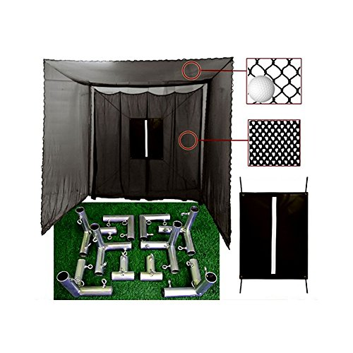 Cimarron Sports 10x10x10 Masters Golf UV Treated Net and Baffle with Golf Net Target and Frame Corner Kit