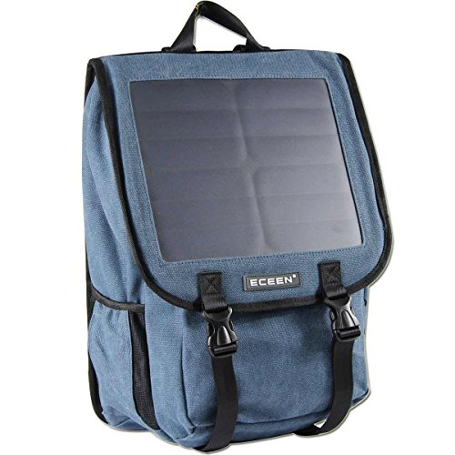 ECEEN Canvans Backpack with 10W Solar Phone Charger Pack for Smart Cell Phones,...