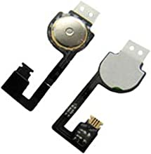 Group Vertical Replacement Home Button Flex Cable Compatible with Apple iPhone 4 (White) (A1332, A1349)