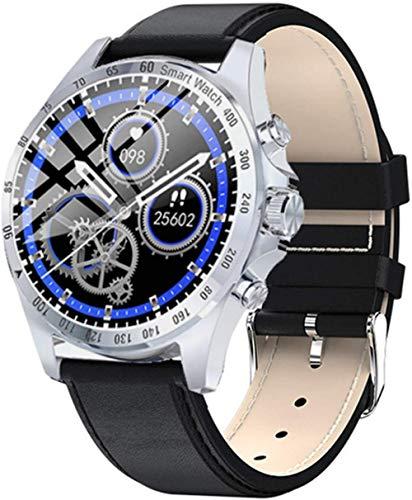 Reloj inteligente de moda de negocios para hombre, pulsera deportiva de Bluetooth con pantalla completa, IP68 impermeable actividad tracker-D