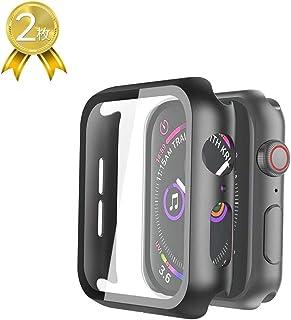 Witbot Apple Watch Series 3 42mm ケース,Apple Watch 3D全面保護カバー 超薄型液晶フィルム 日本旭硝子材 傷防止 耐衝撃PCフレーム 2020 新アップルウォッチシリーズ 3ケース 2枚(ブラック)