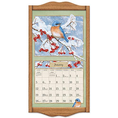 Lang Vertical Soldid Oak Classic Vertical Calendar Frame, 14.3 x 27.5 Inches