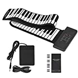 S SMAUTOP Teclado de piano enrollable, 88 teclas Teclado de piano eléctrico Instrumento musical de p...
