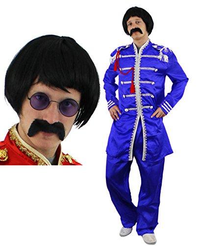 ILOVEFANCYDRESS Disfraz DE Sargento DE Pop Estilo AÑOS 60 para Adulto con Peluca Y Gafas DE Sol (XL)