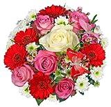 Blumenstrauß Blumenversand 'Blumen-Queen' +Gratis Grußkarte+Wunschtermin+Frischhaltemittel+Geschenkverpackung