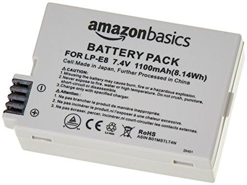 Amazon Basics - Batería de iones de litio para cámaras Canon (LP-E8)