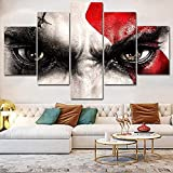 Ojos de odio con una imagen de expresión horrible 5 piezas Decoración moderna para el hogar Cuadro en lienzo Arte Impresión en HD sobre lienzo Pintura Decoración para sala de estar Obra de arte
