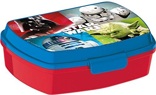 Star Wars Sandwichera-Fiambrera, Rojo, 16 x 11 cm